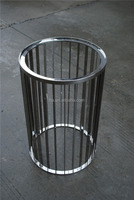 wooden / marble /glass top polished stainless steel round end table