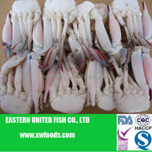 Frozen blue swimming crab cut