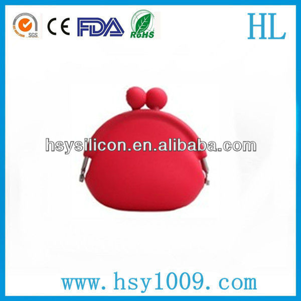 customized cute silicone coin purse for candy/coin/change hot selling in japan