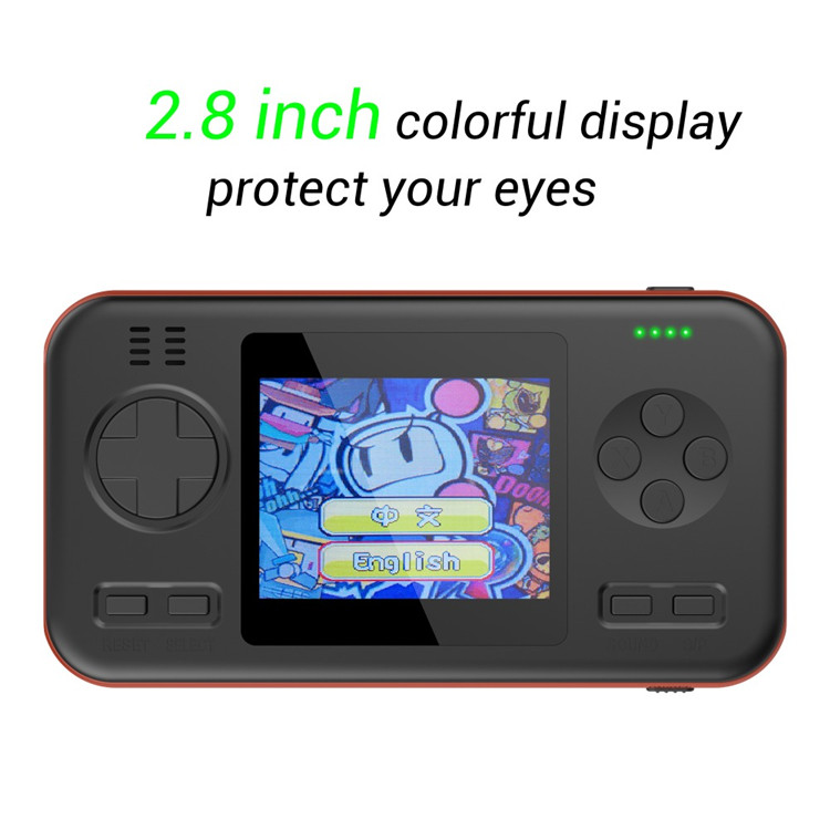 2019 Multifunctional 2.8 inch Color Screen Handheld Game Player Portable Game Console Retro Classic Games Power Bank