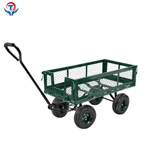 250Kg Loads 4 Wheel Steel Wagon Hand Garden Beach Trolley Cart