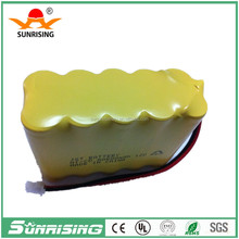 Sunrising battery AA 600mah 12v nicd battery pack /12V emergency battery / tools battery