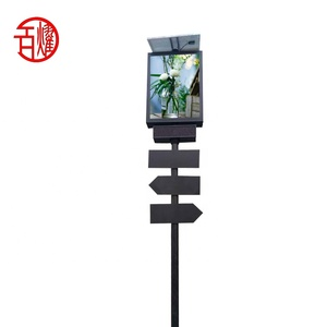 Outdoor solar road sign boards advertising road signs