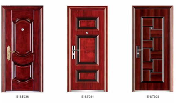Alibaba China Turkey Market Steel Door Steel Doors With Mosquito