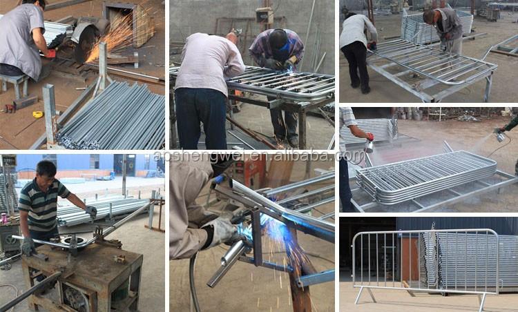 Shengwei Zaun Feuerverzinkt Metal Road Safety Zaun Barriere