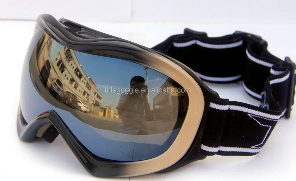 grey black frame gray fashion silver mirror lens kids racing snowboard goggle