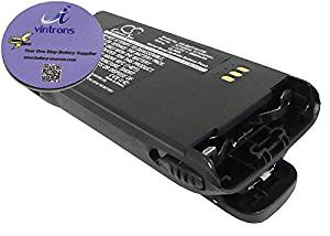 vintrons (TM) Bundle - 2000mAh Replacement Battery For MOTOROLA MT1500, PR1500, XTS1500, XTS2500, + vintrons Coaster