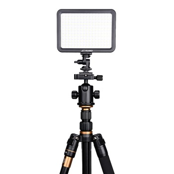 YELANGU 204 pieces Video Light With Lamp Color Temp Adjustable for All Camcorders LED Video Light Panel Light