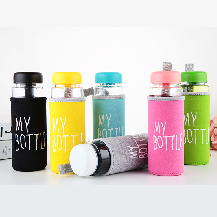 Wholesale 500ml Clear Plastic Bottle Customized Print BPA Free Plastic Drinking Water MY BOTTLE