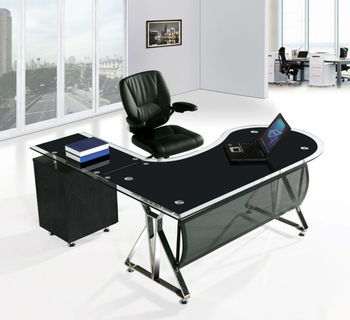 black glass office deskoffice desk cover glassglass desks office mr db003 cover desk
