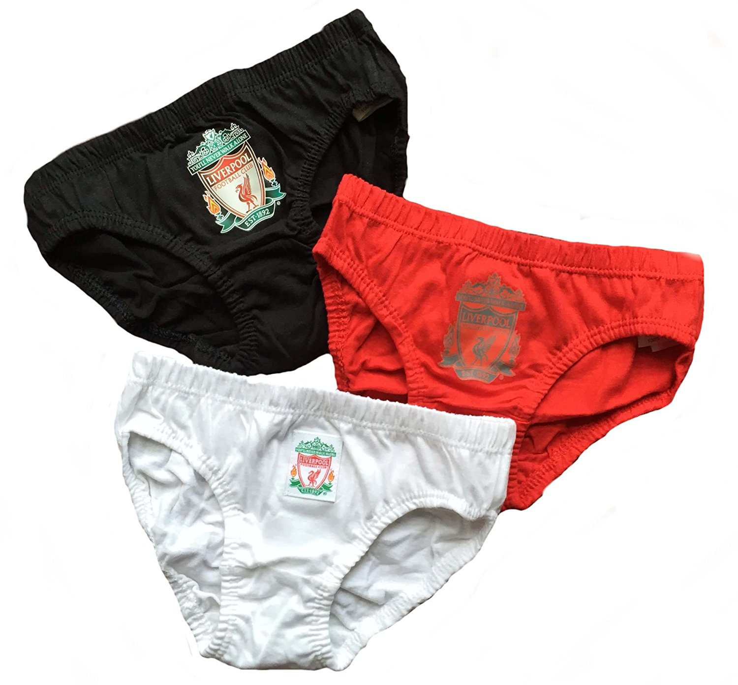 Liverpool Kids (Boys Youth) Briefs - 3 Pack