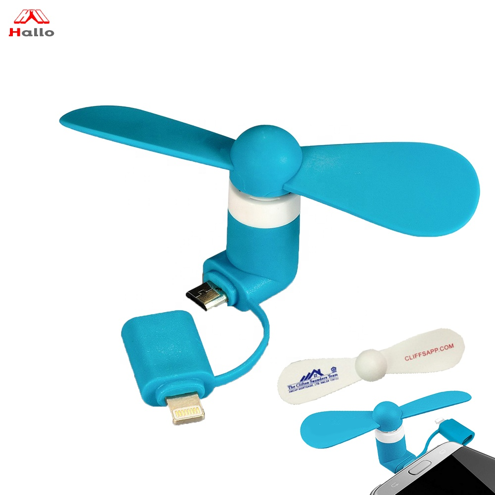 Förderung Geschenk Handy Mini Fan 2 in 1 USB Handliche Colling Fan DC 5 V Handy Iphone und Android fan