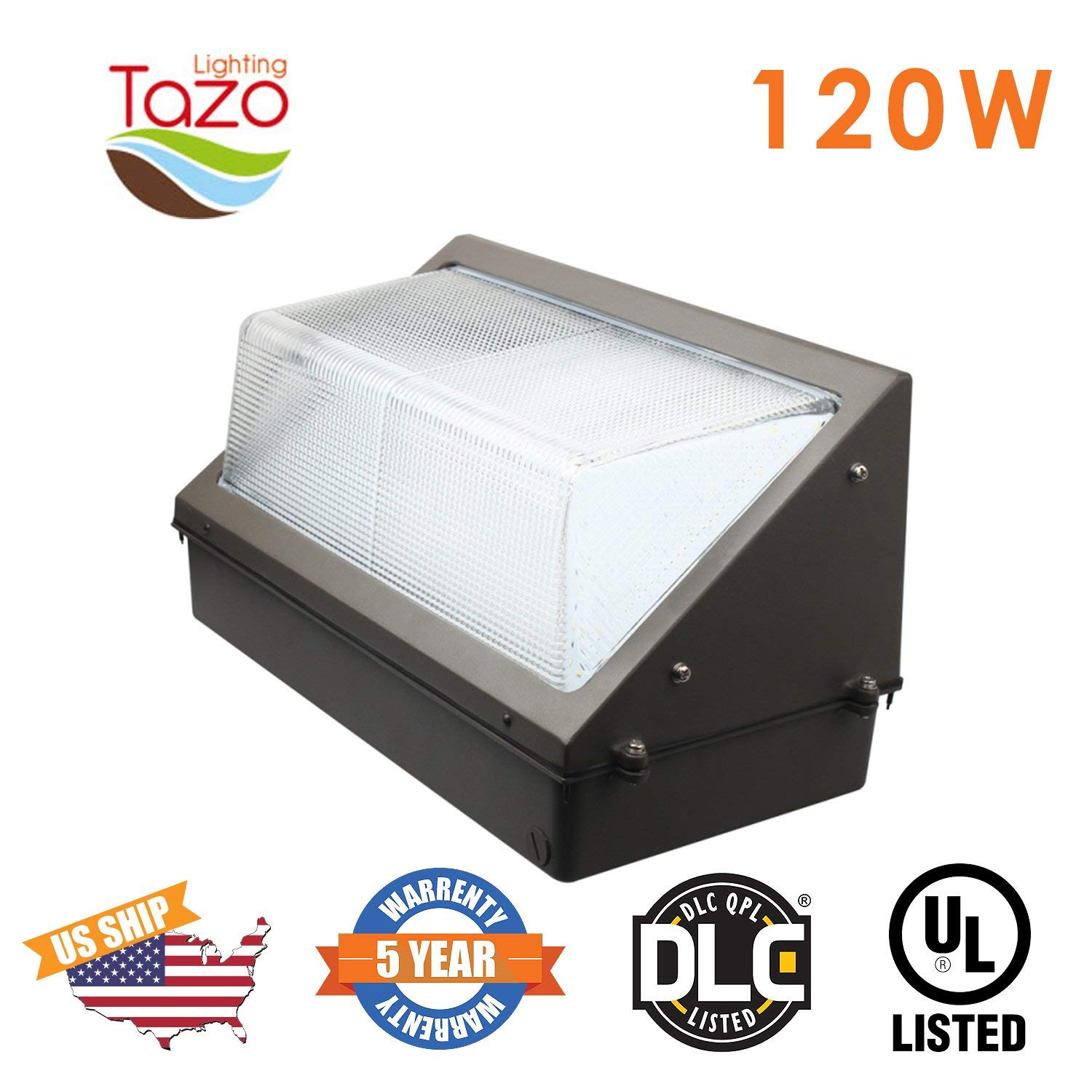 TAZO LIGHTING LED Wall Pack Light 120W, 2700-7000K LED Security Lighting Fixture, 9600-10800 Lumens, IP54 Outdoor Industrial and Commercial Aare Lighting (UL-Listed)
