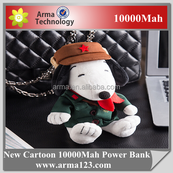 Factory Cartoon Gift Power Bank 10000mAh Snoopy Toy For kids