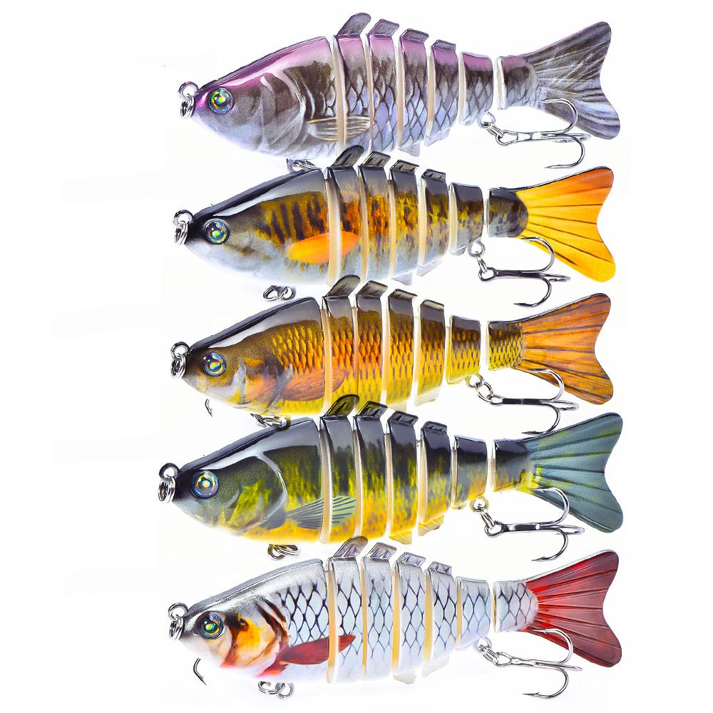 Peche 7 Segment 10cm 16g Fishing Bait Minnow Hengelsport Pesca Carp Fishing Lures, 5 colors