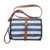 DEEKIDS Blue Striped Baby Diaper Changing Pad Bag with PU Shoulder Straps