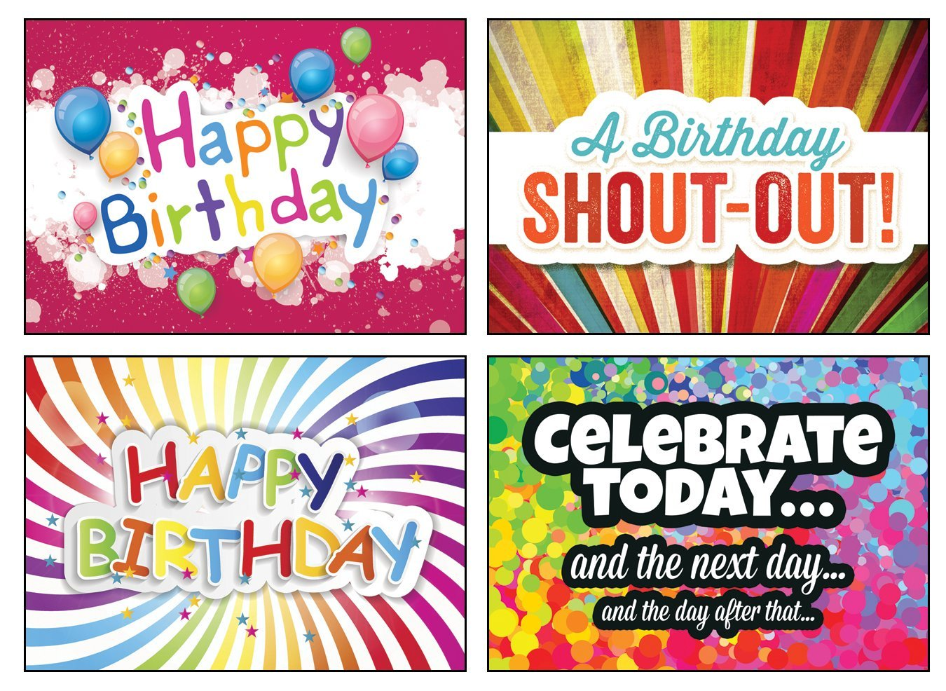 Get Quotations 12 Boxed Birthday Greeting Cards