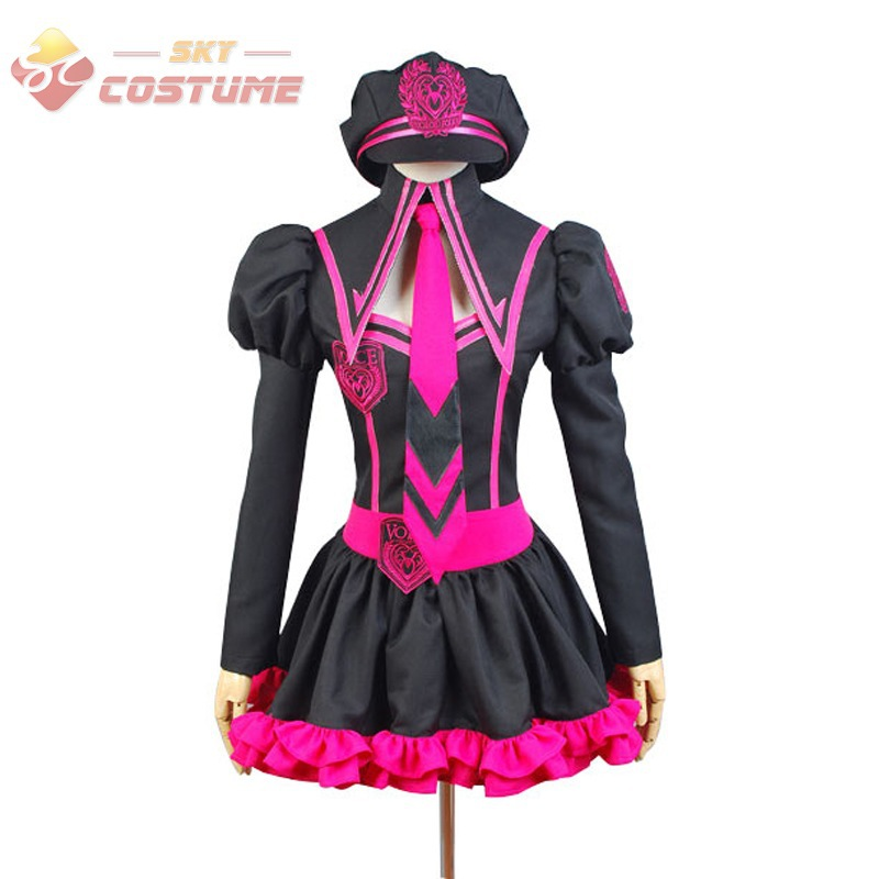 get quotations vocaloid luka hatsune miku uniform girls splice dress hat full set anime halloween cosplay costumes for