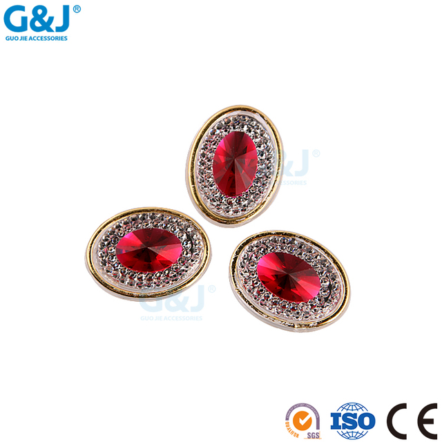 Guojie brand yiwu wholesale custom best quatily Fashion Chunky crystal bead all size and color gem stone rhinestone