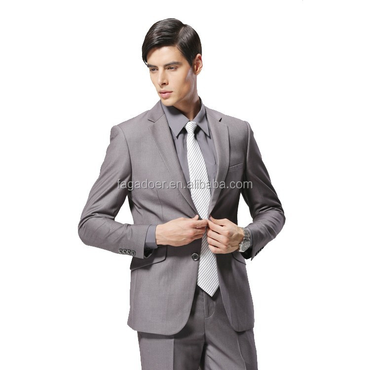 2017 Latest Design Coat Pant Man Suits Style Slim Fit Stylish New