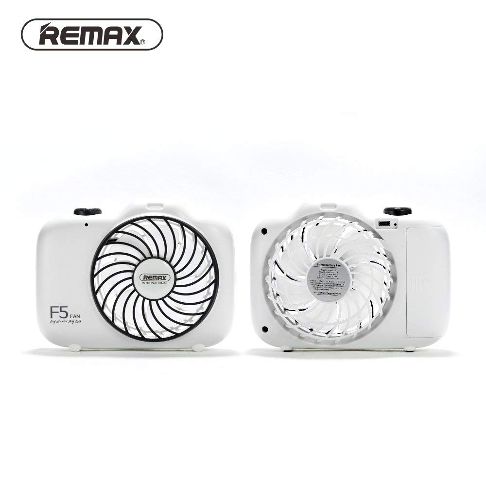 Home Appliance - Summer Rechargeable Hand-held Camera Shape Cooling Fan Portable USB Charge Ventilador - (Color: White)