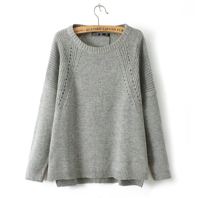Ladies 2015 Hitz fan in Europe before long after short simple loose bat sleeve sweater blouse