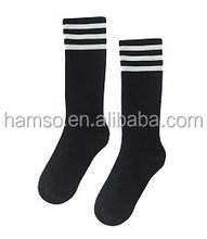 Customized logo Knee High Sport football socks
