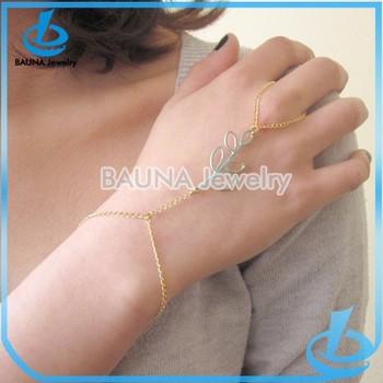 Gold Finger Thin Hand Chain Bracelet