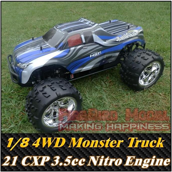 Nitro R C Cars Engine Tuning Secrets: Bull GP1 1/8 Scale 3.5cc Nitro Gas Engine Power 4WD Off