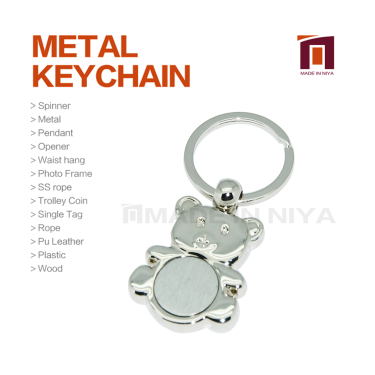 London Multi Color Metal Bear Parts And Accessories Halloween Keychain Code For Key
