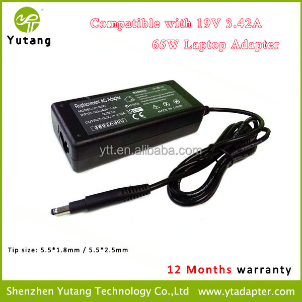 For 65W 19V 3.42A Laptop Power Supply AC Adapter Charger
