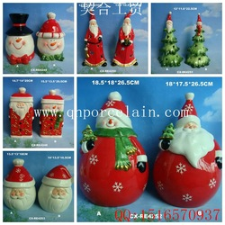 Custom Color Hand Blown Ceramic Christmas Ornaments Gold Deer