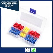 92pcs 10-22 AWG Insulated Female Male Bullet & Spade Connector Wire Crimp Terminals Set
