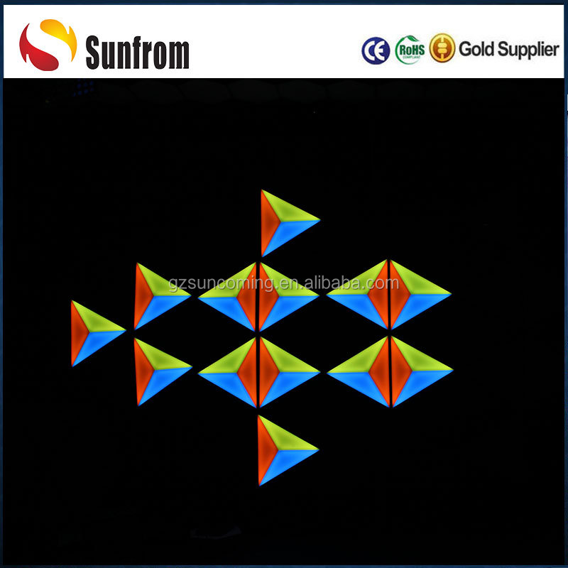 3D vision triangle low profile panel ceiling led light