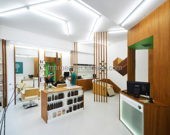 Hair Salon Interior Design With Hair Styling Mirror Station And Beauty Salon  Reception Desk