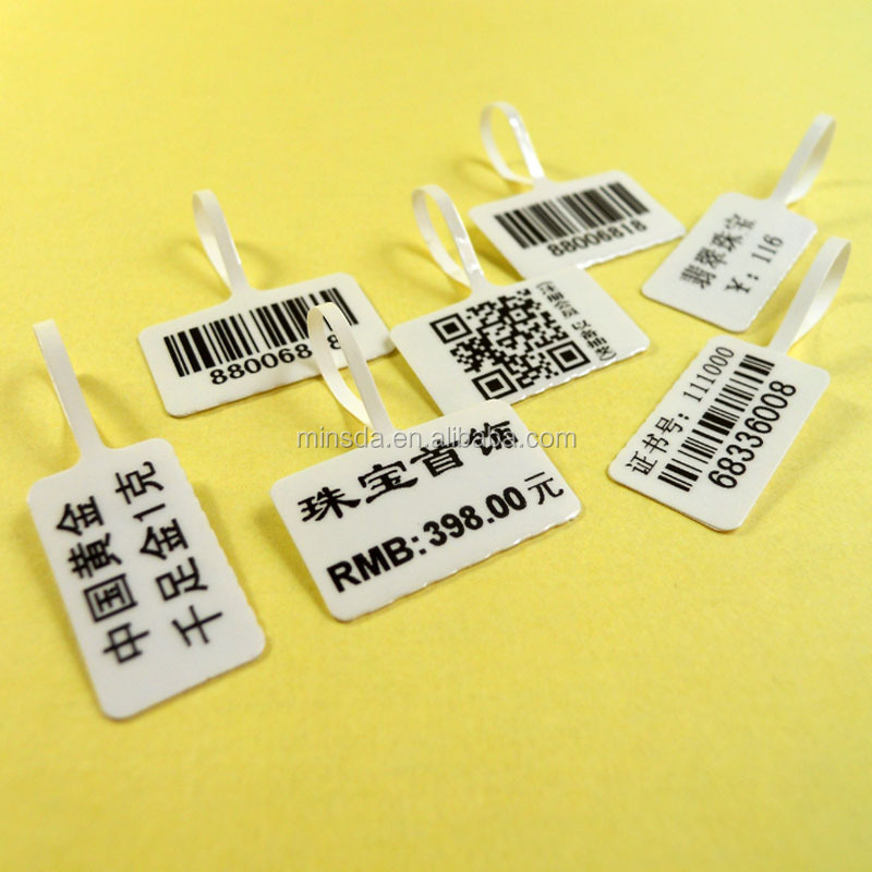 Private Labels For Jewelry RFID Jewelry Price Label Tags Jewelry Barcode Labels