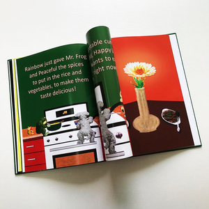 OEM cardboard well designed color child book printing China