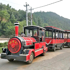Happy kiddie amusement happy car ride outdoor park electric train,outdoor park electric train