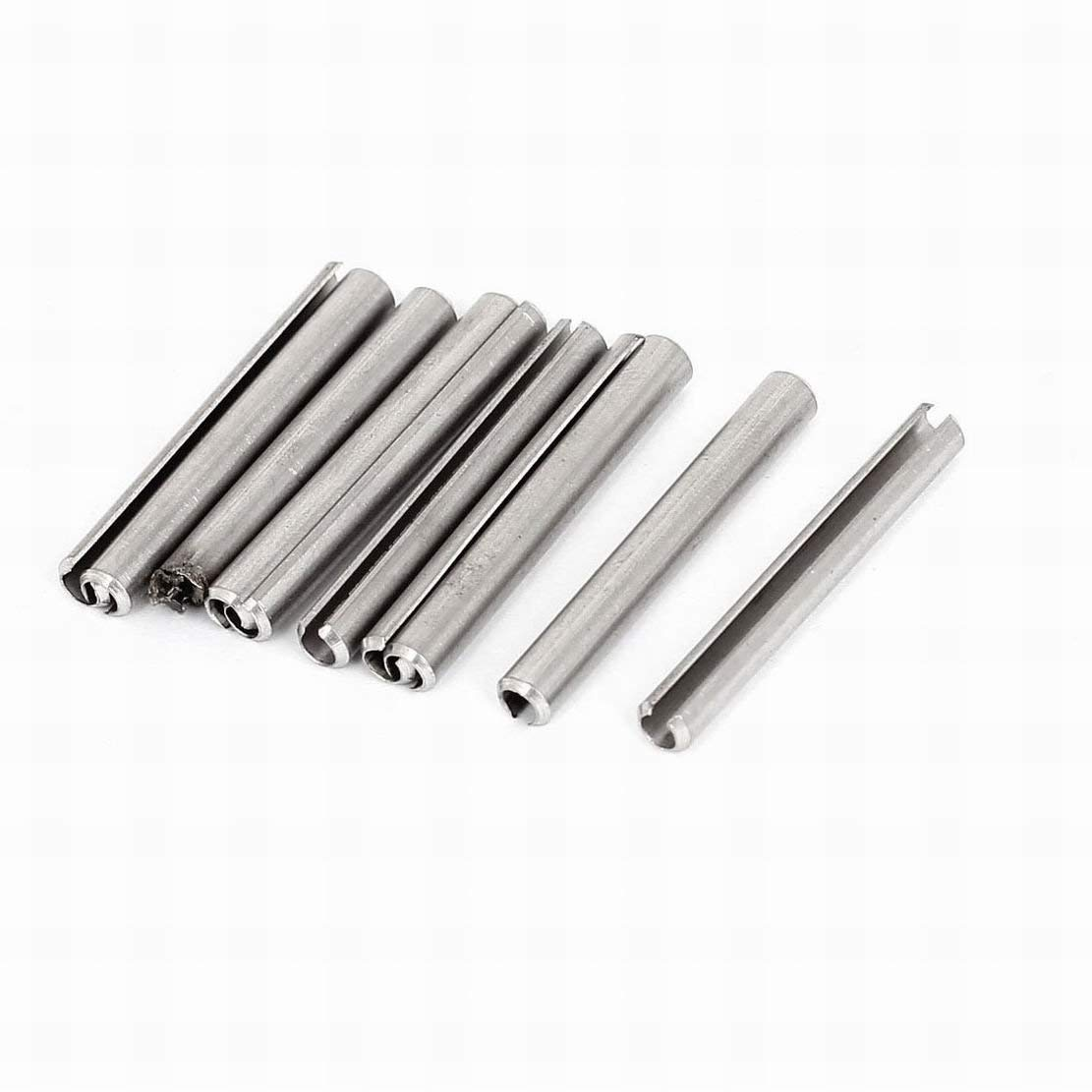 MariaP M4x35mm Stainless Steel Spring Roll Dowel Pins Locating Elements 10Pcs