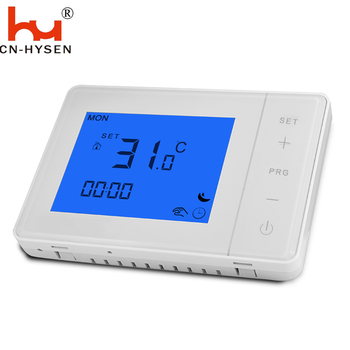 Battery power hot water boiler heating thermostat,lcd touch screen temperature controller