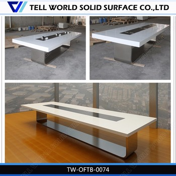 Modern Artificial Marble Luxury To Person Conference Table - 16 person conference table