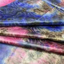 Новый дизайн, африканская ткань Базен риче, 5 ярдов, модная разноцветная хлопковая ткань для LYZ-90 одежды, 2019(Китай)