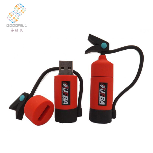 Fire extinguisher Model 8GB <strong>USB</strong> 2.0 Flash Memory Stick Drive