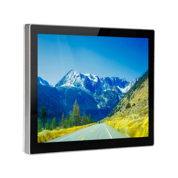 Hot Aluminum Frame Wall Mount/Vesa/Rack Mount Capacitive Touch Panel True Flat 15 inch Touch Screen Monitor