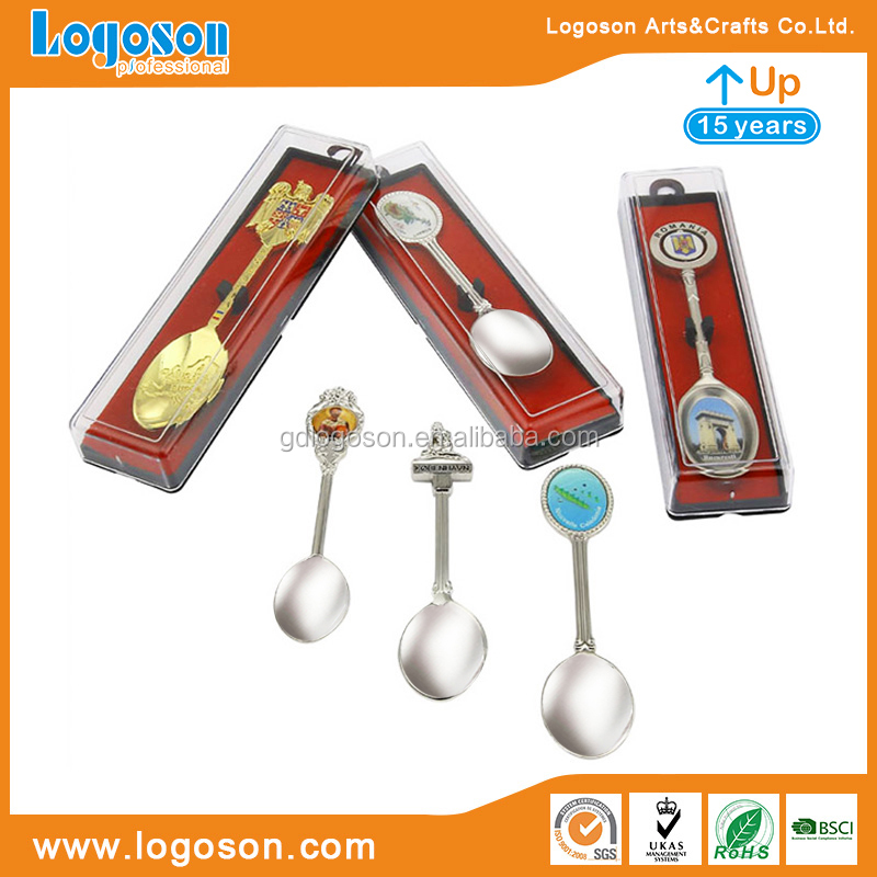 Customized Country Tourism Gifts Spoons Denmark Decorative Spoon Stainless Steel Spoon