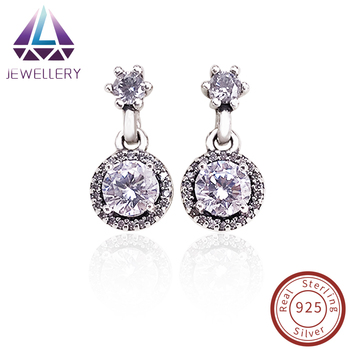 aeed4e622 Manufacturer Wholesale 925 Sterling Silver Drop Earrings For European  Jewelry Classic Elegance, Clear CZ Supplier