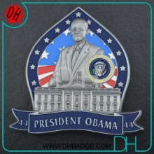 Factory price 3D White house seal of president souvenir coin antique silver without MOQ