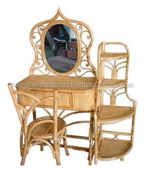 Set Of Dressing Rattan Table With Magazine Self Nice Product From