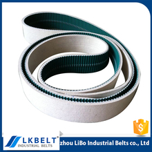 2017 China Manufacturer factory price double sided PU timing belt with white wool felt tensile belt