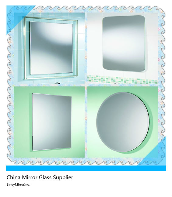 4mm strong double sided tape mirror /adhesive backed mirrors